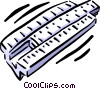 slide rule Vector Clipart illustration