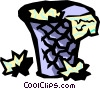 Vector Clipart picture  of a waste basket