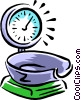 Vector Clipart graphic  of a weight scale