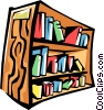 Vector Clip Art graphic  of a bookshelf