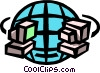 Vector Clipart picture  of a worldwide telecommunications symbol