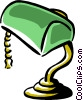 desk lamp banker's lamp Vector Clipart illustration