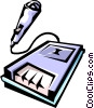 Vector Clipart illustration  of a tape recorder