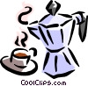 coffee pot Vector Clipart image