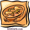 fresh fruit bowl Vector Clipart picture