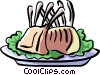 Vector Clipart image  of a rack of lamb