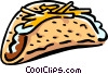 Vector Clipart illustration  of a Mexican taco