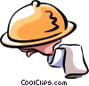 Vector Clip Art image  of a dinner