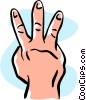 hand/three Vector Clipart illustration