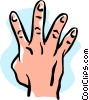 Vector Clip Art image  of a hand/four