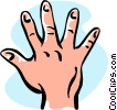 hand/five Vector Clip Art picture