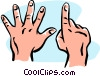 Vector Clip Art graphic  of a hands/six