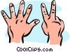 Vector Clip Art image  of a hands/seven