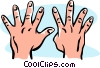 hands/nine Vector Clipart graphic
