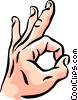 Vector Clip Art picture  of a hand/Ok sign