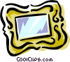 Vector Clipart graphic  of a mirror