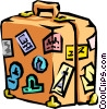 Vector Clipart picture  of a luggage