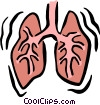 Vector Clipart graphic  of a lungs