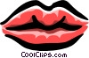Vector Clip Art image  of a lips