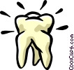 human molar tooth Vector Clipart illustration