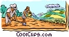 Vector Clipart picture  of a farming