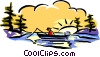 Vector Clipart picture  of a fishing