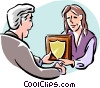 employee congratulations Vector Clipart image