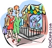 Vector Clipart picture  of a Women shopping