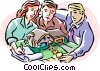 Vector Clip Art image  of a Buying real estate