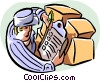 Vector Clip Art graphic  of a shipper