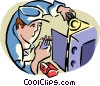 Vector Clipart illustration  of a electronics repair
