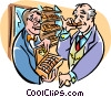 Man buying cigars Vector Clip Art picture