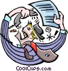 Vector Clip Art graphic  of a very busy
