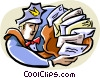 Vector Clipart illustration  of a mailman