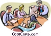 Boardroom meeting Vector Clipart picture