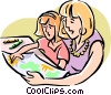 Painting/family activity Vector Clipart image