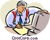 Vector Clip Art graphic  of a man