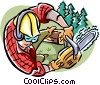 lumberjack Vector Clipart graphic