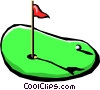 Vector Clipart image  of a golf putting green