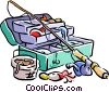 Vector Clip Art image  of a fishing/fishing tackle