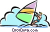 sail boarding Vector Clip Art picture