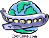 Vector Clip Art image  of a international airline travel