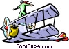 air show/airplane/stuntman Vector Clipart illustration