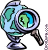 close examination Vector Clip Art picture
