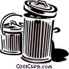 Vector Clipart image  of a Garbage/trash can