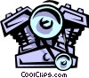 2 cycle engine Vector Clip Art graphic