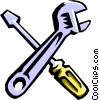 Vector Clip Art picture  of a wrench and screwdriver
