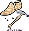 Vector Clipart picture  of a shoemaker's tools