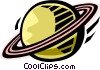 Vector Clip Art graphic  of a Saturn