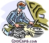 Automotive mechanic Vector Clipart picture
